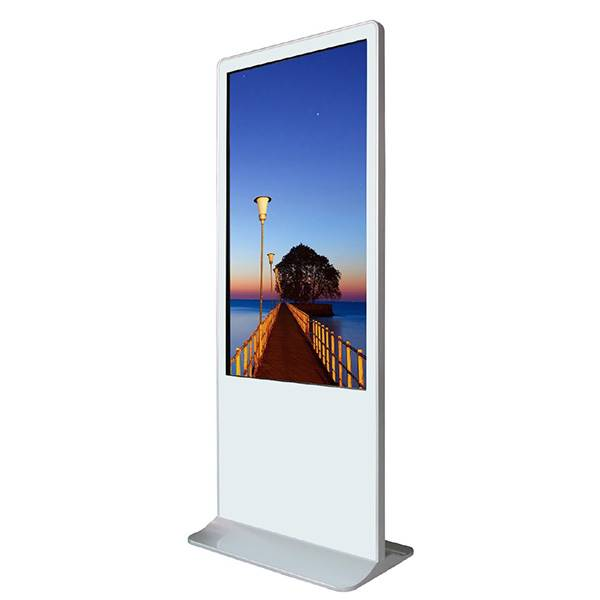 Totem video ecran  tactile 55 blanc ,  sous Android ,  ref appolon