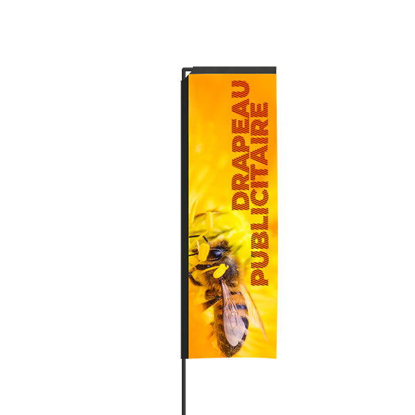 Drapeau publicitaire 2.89m rectangle impression recto
