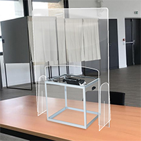 protection plexi , plexi bureau de vote