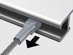 cable perlon pour cimaise clic rail