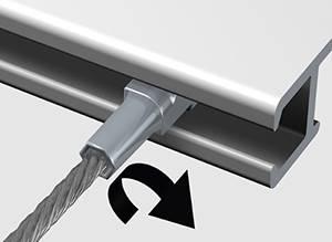 cable perlon pour cimaise clic-rail