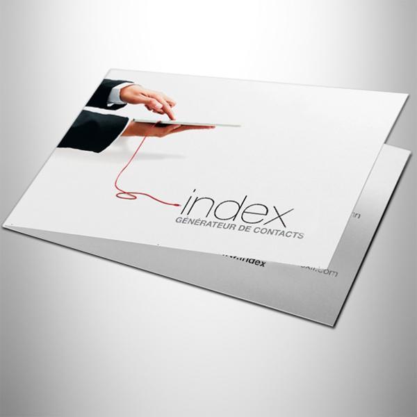 Carte De Visite Double Recto Verso Papier 350g Demi Mat Et Pelliculage