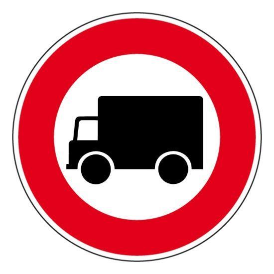 Panneau de circulation interdit camion , prix degressif