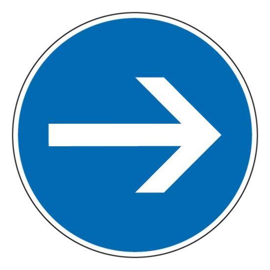 Panneau de circulation direction droite , prix degressif