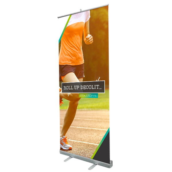 Roll-up totem enrouleur 850 x 2050 mm version decolit M1, prix degressif