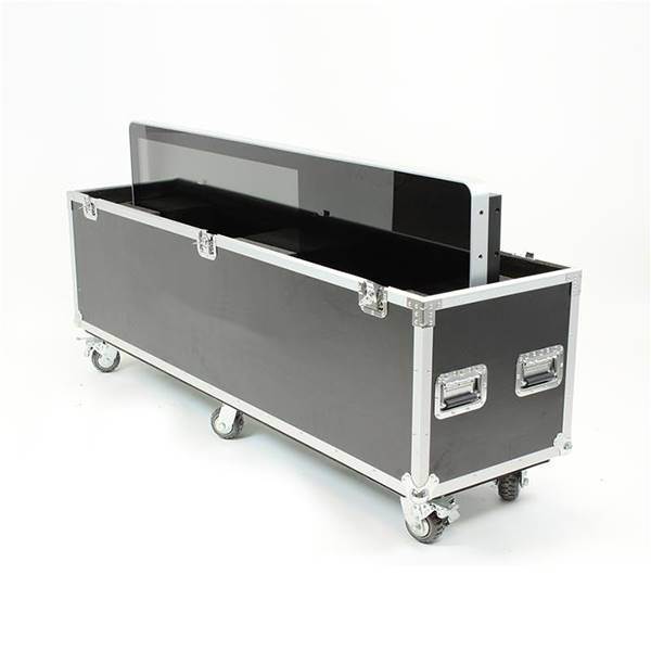 Flight case pour totem video ecran 43 pouces