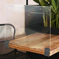 Plexiglas protection table restaurant