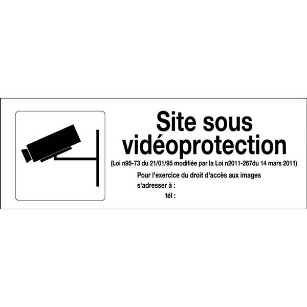 panneau de video surveillance signa print. Black Bedroom Furniture Sets. Home Design Ideas